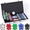 Set in Valigetta 300 fiches da 11,5 gr in 5 colori mod. Dice