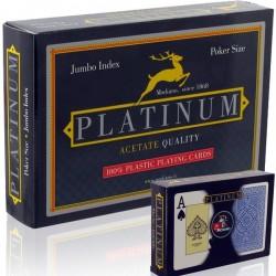 2 Mazzi di Carte Modiano TEXAS PLATINUM ACETATO 2 Jumbo Index