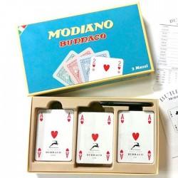3 Mazzi Modiano Burraco Cristallo DX per 6 Giocatori