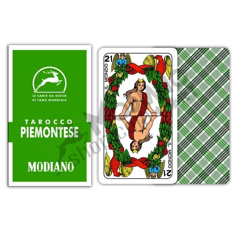 Tarocco PIEMONTESE 84 Verde Modiano
