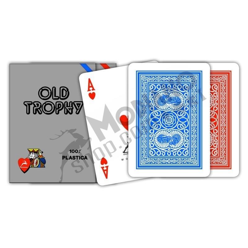 Carte POKER PL OLD TROPHY MOTO Blu o Rosse