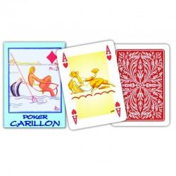 Carte POKER CARILLON Rosso...