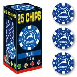 25 Chips 11,5g Blu Texas Hold'em