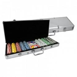 VALIGETTA 500 Chips Poker Alluminio (vuota)