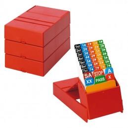 BIDDING BOX Rosso per...