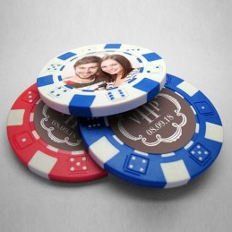 100 Wedding Poker Chips...